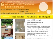 Witbank ( Emalahleni ) Bed and Breakfast, You are welcomed to Witbank Bed and Breakfast, Guesthouses with Back up Power and Water,
