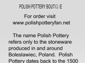 Polish Pottery Boutique