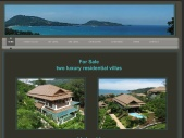 A two 2 luxury villas for sale at Orchidee Residence with view on Patong Beach, Phuket, Thailand