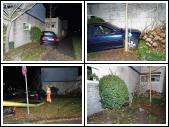 Auto rijdt tegen gevel huis