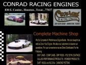 CONRAD RACING ENGINES, 830 E. Canino Houston Texas 77037