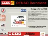 CCOO. Tu sindicato en DENSO Barcelona