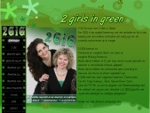 2 girls in green