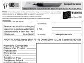 Registrarse como miembro de ADESORG