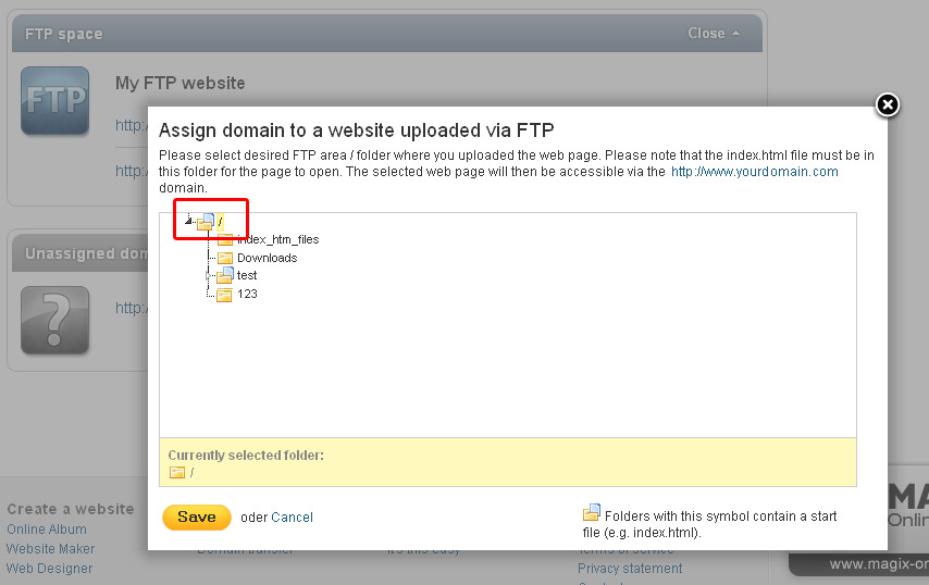 Assigning domains > Help & Support MAGIX Domain & email > Help